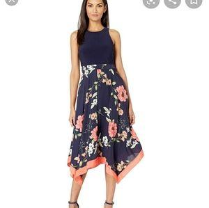 Womens Floral Midi Dress